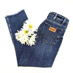 Wrangler Heritage Crop Raw Hem Distressed Jeans